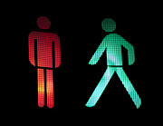 Traffic Control Photo Originals - Traffic light of pedestrians by Deyan Georgiev