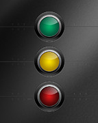 Traffic Control Digital Art Metal Prints - Traffic Lights Metal Print by Phil Perkins