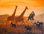 True Vine Gallery-- Donna E Dixon - Traffick on Serengeti