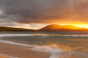 Isle Of Harris Posters - Traigh Mhor Sunset Poster by Eva McDermott