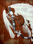 Rodeo Prints - Trail ready paint horse Print by Lucka SR