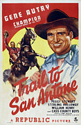 Trail To San Antone Print by Studio Artist
