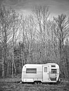 Black And White Rural Photography Prints - Trailer Print by Diane Diederich