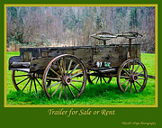 Cart Driving Posters - Trailer for Sale or Rent Poster by Terrie Heslop