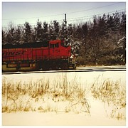 Textiles Prints - Train 5754 Color Print by Tom Druin