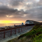 Paul Carter - Train And Sunset In San...