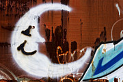 Graffitti Photos - Train Art Man in the Moon by Carol Leigh