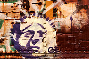 Graffitti Prints - Train Art Statue of Liberty Print by Carol Leigh