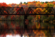 Sarah Yost - Train Bridge and Autumn...