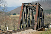 Natural Bridge Station Photos - Train Bridge by Brenda Dorman