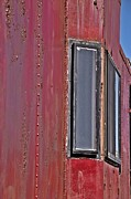 Old Caboose Posters - Train Caboose Windows Poster by JW Hanley