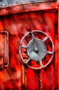 Crimson Prints - Train - Car - The Wheel Print by Mike Savad