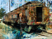 Train Cars Print by Robert Ball