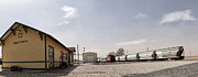 Digital Art Photos Posters - Train Depot Panorama Poster by Melany Sarafis
