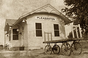 Pleasanton Posters - Train Depot - Pleasanton - Nebraska Poster by Andrea Kelley