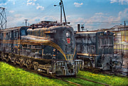 Nostalgic Prints - Train - Engine - 4919 - Pennsylvania Railroad electric locomotive  4919  Print by Mike Savad