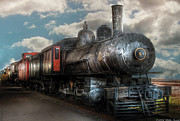 Cloudy Photo Prints - Train - Engine - 6 NW Class G Steam Locomotive 4-6-0  Print by Mike Savad