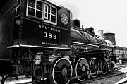 Watertower Prints - Train - Engine - Black and White Print by Paul Ward