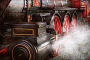 Steel Wheels Framed Prints - Train - Let off some steam  Framed Print by Mike Savad