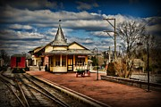 Bucks County Posters - Train - New Hope Train Station Poster by Paul Ward