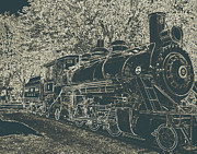 Transport Mixed Media - Train - Northern Cascades National Park by Photography Moments - Sandi