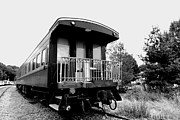 Carriage Road Photos - Train - Passenger Car - Black and White by Paul Ward