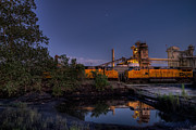 Austin Tx Prints - Train Reflection Print by Preston Broadfoot