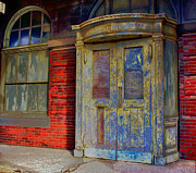 Neil Young Photo Prints - Train Station Door with Widow Print by William Rockwell