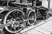 Journeyman Prints - Train - Steam Engine Wheels - Black and White Print by Paul Ward