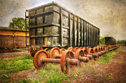 Train Stations Photos - Train - The Freight Car by Paul Ward
