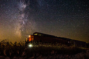 Night Photography Prints - Train to the Cosmos Print by Aaron J Groen