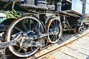 Journeyman Prints - Train wheels Print by Paul Ward