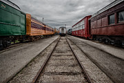 Train Depot Framed Prints - Train Yard Framed Print by Mike Burgquist