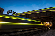 Trains Photos - Trains Blur At Dusk by Sven Brogren