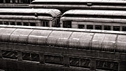 Train Depot Prints - Trains Print by Olivier Le Queinec