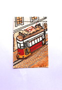 Old Tram Paintings - Tram At Lisbon by Douglas Fernandes