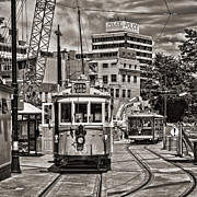 Featured Art - Trams in Cathedral Square Christchurch New Zealand by Colin and Linda McKie
