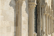 Religious Art Pyrography Originals - Trani Cathedral facade by Gianluca Pisano