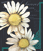 French Text Posters - Tranquil Daisy 1 Poster by Debbie DeWitt
