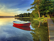 8:48. Prints - Tranquil Reflection Print by James Charles