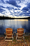 Adirondack Lake Prints - Tranquility at sunset Print by Elena Elisseeva
