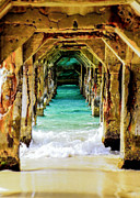 Tunnels Beach Prints - Tranquility Below Print by Karen Wiles