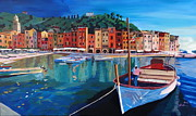 Acryl Framed Prints - Tranquility in the Harbour of Portofino Framed Print by M Bleichner
