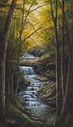 Serene Landscape Painting Originals - Tranquility by Kim Lockman