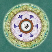 Mandala Paintings - Tranquility Mandala by Jo Thomas Blaine