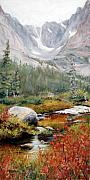 Glacier National Park Paintings - Tranquility by Mary Giacomini