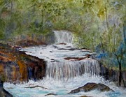 Waterfalls Paintings - Tranquility by Sandra Ramsey