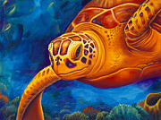 Sea Turtle Paintings - Tranquility by Scott Spillman