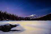 Snowy Night Photos - Tranquility by Steven Reed