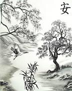 Tranquility W Kona Moringa Print by Melodye Whitaker